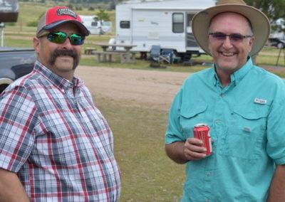 Tom Sweeney and John Svoboda enjoying the campout.